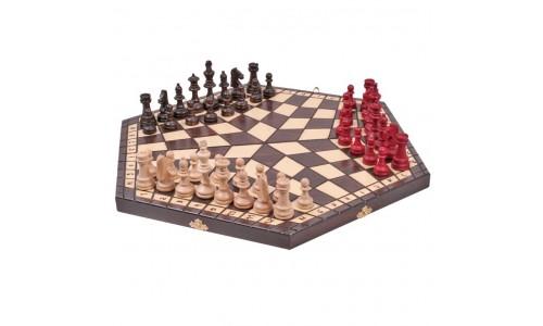 Шахматы для троих, 3162 Madon 27х47х5см
