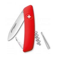 Нож Swiza D01, красный лезвие 75мм