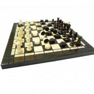 Шахматы №3+шашки 3165-01 Madon, 35х35см