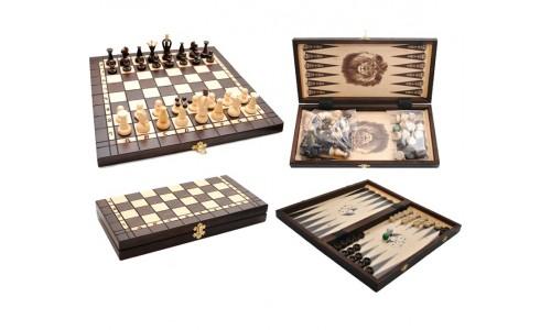 Шахматы+шашки+нарды 3180 Madon, 35х35см