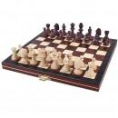Шахматы магнитные 2030, махагон 24х24см